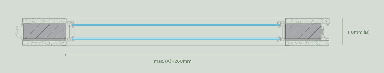 Doble panel acristalado - Paneles especiales para tabiques móviles - Vimetra.com