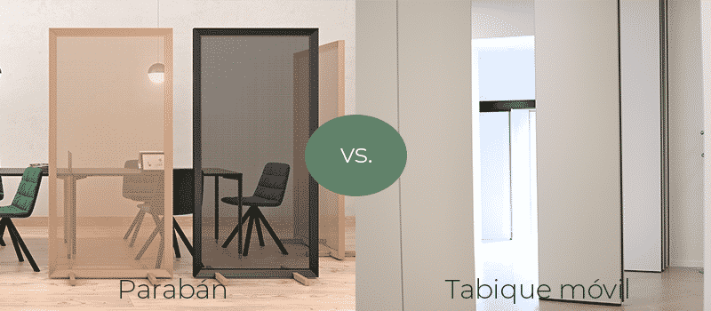 Parabán vs Tabique Móvil - Qué es un tabique móvil - Vimetra.com
