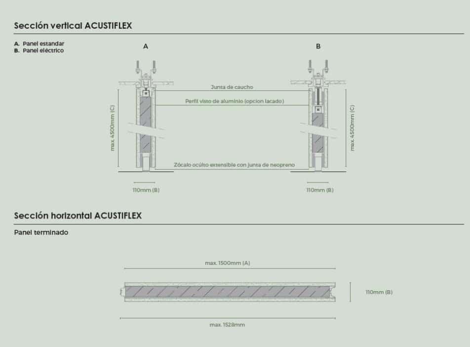 Secciones tabique móvil acustiflex - Vimetra.com