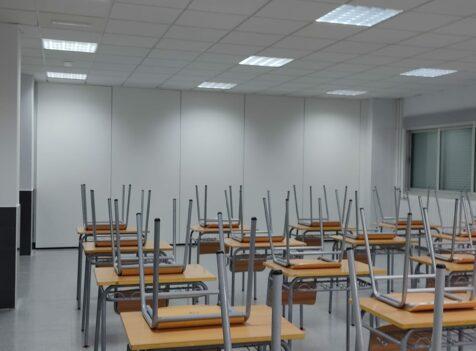 Tabique móvil en aula de un IES - Vimetra.com